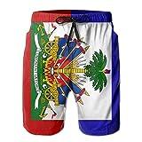 YongColer Men Cool Half Pants Beach Shorts Quick Dry Swim Trunks - Haiti Flag