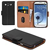 Aicoco Galaxy S3 Case, Flip Cover Leather, Phone Wallet Case for Samsung Galaxy S3 / S3 Neo - Black