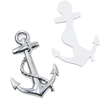 Express Hero Anker Aufkleber Anchor Sticker Für Auto Boot Maritim Meer Segeln Sticker Decal 9 5 X 9 5 Cm Auto