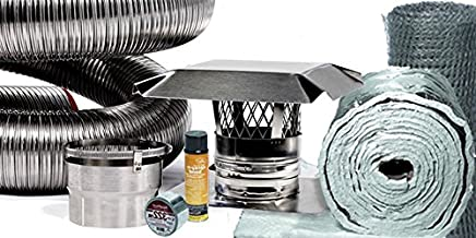 FireFlex Basic Chimney Liner Insert Kit with Insulation 6 Inch x 20 Foot