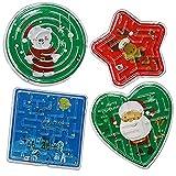 Gioco divertente - I nostri labirinti a tema natalizio sono un modo divertente per tenere occupati i bambini. Con forme di cuori, stelle, cerchi e quadrati, sono disponibili in vari colori di blu verde e rosso. Design assortiti - Seguendo il tema nat...