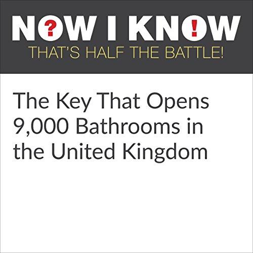 Diseño de la portada del título The Key That Opens 9,000 Bathrooms in the United Kingdom