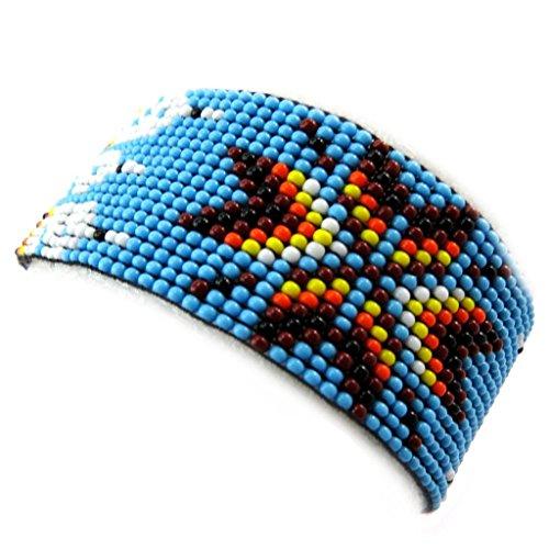 Les Trésors De Lily [N3482] - Ethnische armband 'Katmandou' blau.