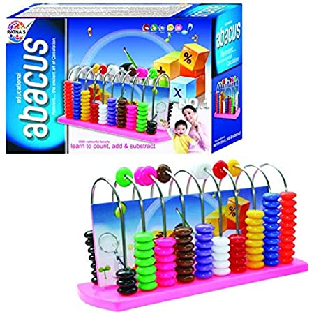 Ratnas Educational Abacus Senior for Kids to Count, add & Subtract with Colourful Beads