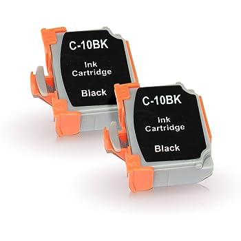 【森下問屋】BCI-10BK(ブラック) お得な2本セット ISO14001/ISO9001認証 キヤノン用互換インクカートリッジ 残量表示機能付