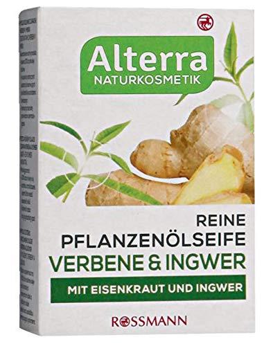 Reine Pflanzenölseife Verbene & Ingwer - mit Eisenkraut & Ingwer, vegan, Naturkosmetik - 2er Pack (2 x 100g)