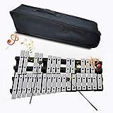 eidevo xilofono glockenspiel pieghevole, uno xilofono portatile educativo a vibrazione a percussione, adatto a bambini principianti glockenspiel (30 note)