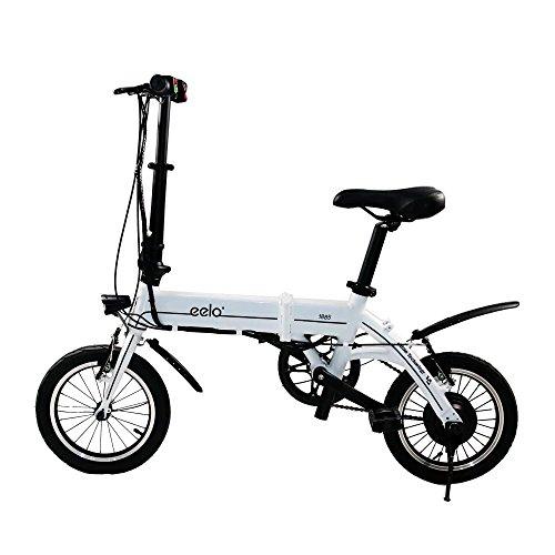 eelo 1885faltbares Bicicletta elettrica–Portatile e Facile da verstauen–kurzla dbarer Batteria agli ioni di Litio e leises Motore di Ebike, Pollice Gas e LCD Indicatore di velocità.