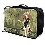 Anime Girl Guilty Crown Caja de almacenamiento de equipaje Trolley Cosmético Impermeable Ligero Gran Capacidad Bolsa de Viaje de fin de semana durante la noche