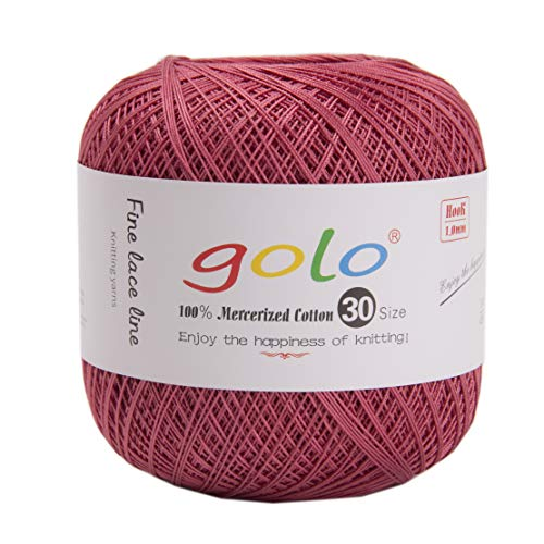 golo Crochet Thread for Hand Knitting Size 30 (Pack 1) (Meat Pink)10-898