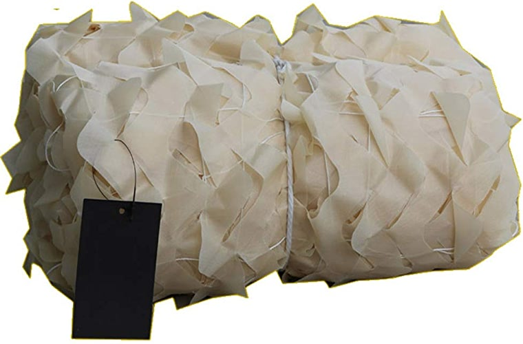 Filet d'ombrage ZXMEI Filet De Camouflage, Filet De Camouflage des Bois, Filet De Camouflage du Désert, Camping, Chasse, Tir, Décoration De Camouflage Cachée (Beige) (Taille   8x15m)