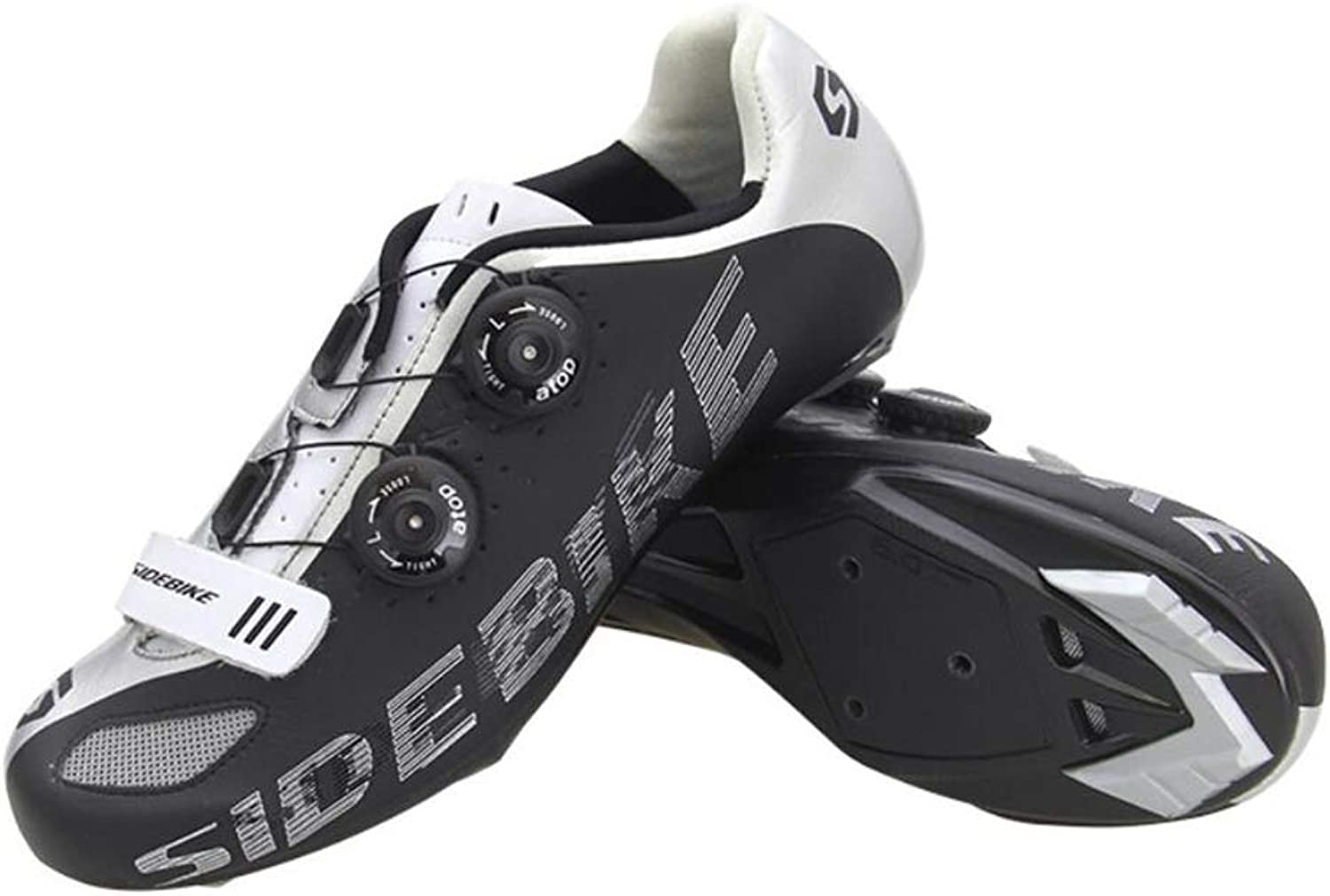 Bicycle shoes, Nylon Bicycle Road shoes, Men's Racing Professional Bicycle shoes, Over-Hanging Buckle Design, 2 colors