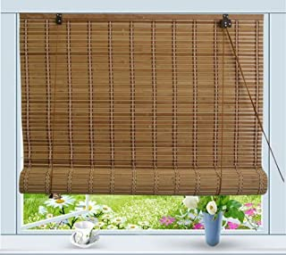Bamboo Roll Up Window Blind Sun Shade W42