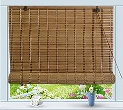 Bamboo Roll Up Window Blind Sun Shade W60