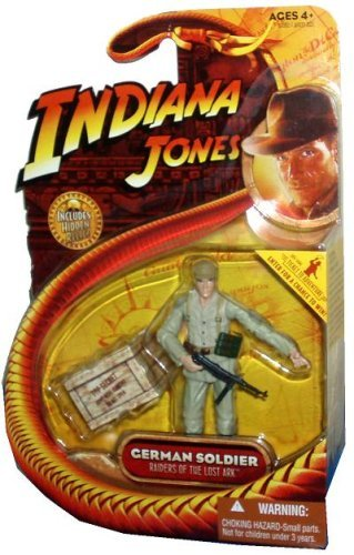 GERMAN SOLDIER from Raiders of the Lost Ark 2008 Action Figure & Accessories (Includes Indiana Jones Hidden Relic)