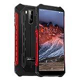 Ulefone Armor X5 Pro Rugged Phone SIM Free Unlocked, 4GB + 64GB, Android 10, 4G LTE Dual SIM IP68 Waterproof Unlocked Mobile Phones, 13MP Dual Camera, 5000mAh, 5.5 inch, NFC, Face ID GPS, Red