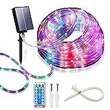 Solar Led Rope Lights Waterproof,Led Rope Lights Outdoor,39FT 100LED Led Fairy...