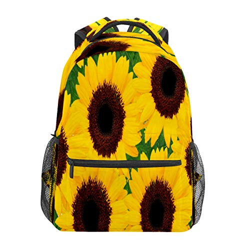 Sunflowers Yellow Bright Cheerful Business Laptop Backpack Travel Hiking Camping Daypack College Bookbag Large Diaper Bag Doctor Bag School Backpack Water Resistant Anti-Theft for Women&Men