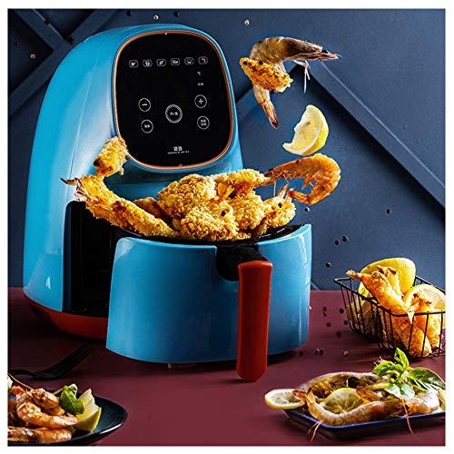 TTFGG 2.2L Hause Friteuse Heissluft,1000W Fritteuse Intelligente, Vollautomatische Kartoffelchips Maschine, Gesundes Kochen, Low Fat Fryer,Blau
