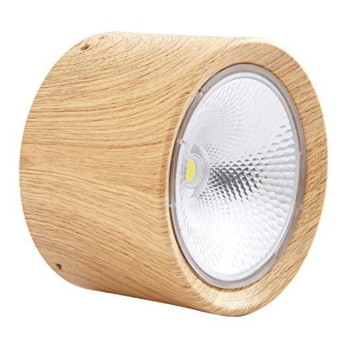 Vinteen Superficie comercial Montado Proyector Redondo Simple Cabeza simple LED Madera Color...