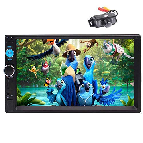 7 Inch HD 2 Din Bluetooth Autoradio Stereo Car Radio MP3 MP5 Player FM/USB/AUX/SWC/1080P Video + Camera