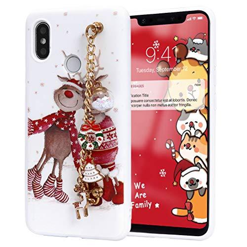 Yoedge Funda para Xiaomi Redmi Note 9 Pro / 9s / 9 Pro MAX, Silicona Pulsera Cárcasa 3D Doll Navidad con Dibujos...