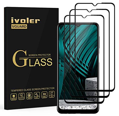 ivoler 3 Unidades Protector de Pantalla para Samsung Galaxy A32 5G   A12   M12, [Cobertura Completa] Cristal Vidrio Templado Premium, [Dureza 9H] [Anti-Arañazos] [Sin Burbujas]