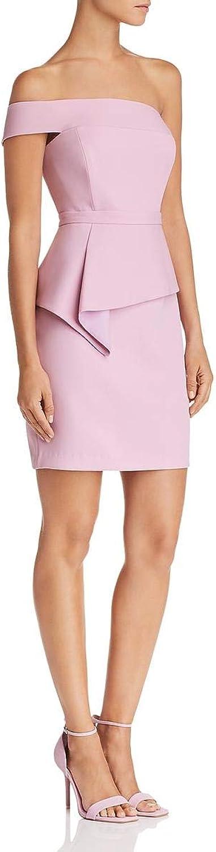 BCBG Max Azria Womens One OffTheShoulder Peplum Cocktail Dress