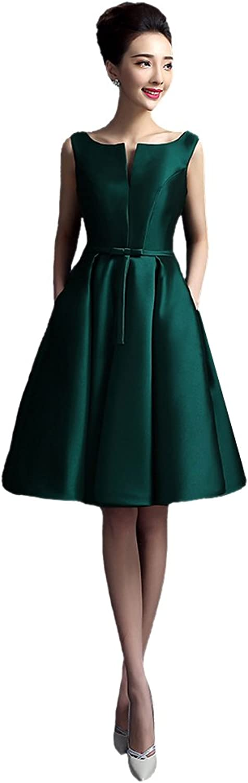 AK Beauty Teffeta Sleeveless Knee Length Aline Prom Dress