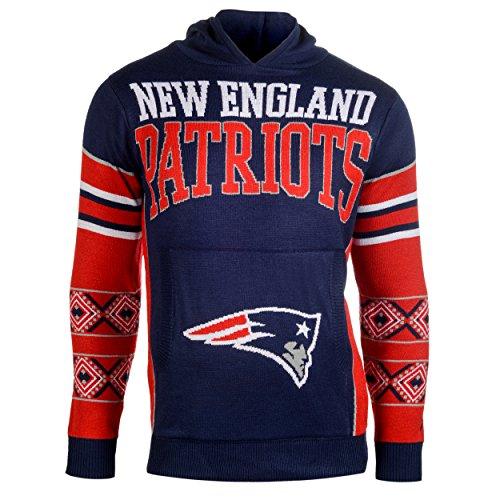 New England Patriots Big Logo Hooded Sweater Large
