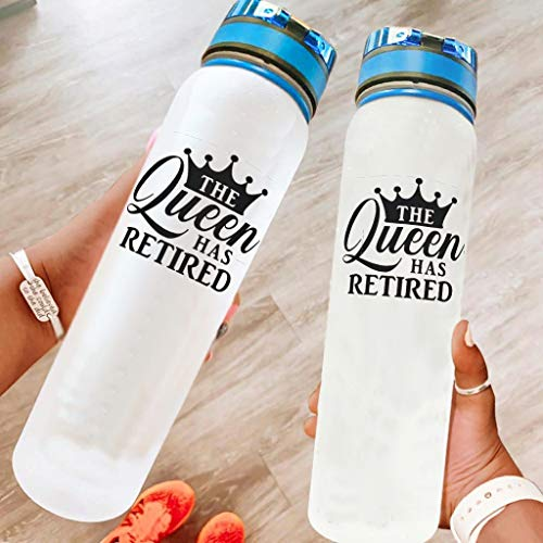 Niersensea Die Königin hat Sich - Botella de agua para viajes, camping, deportes al aire libre, 1000 ml, color blanco