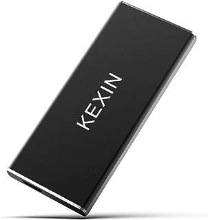 KEXIN 外付けSSD 1TB USB3.1(Gen2) 超高速 ポータブルSSD PS4(メーカー動作確認済) 薄型 軽量 転送速度(最大)540MB/s 2本ケーブル付き Type-A/Type-C 対応 防滴 耐衝撃 2年保証
