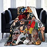 Bad Bunny Blankets Throws Plush Fuzzy Suitable for Teens Women in The Sofa Bed Office Couch 50'×60'