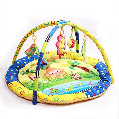JYSPORT Alfombras de juego y gimnasios bebés animalitos gimnasio para manta de juegos manta juguetes educativos (Monkey fishing month)
