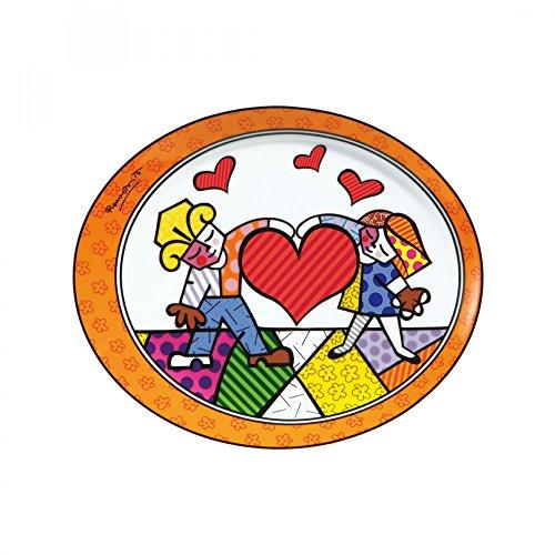 Goebel Heart Kids Teller, Porzellan, bunt, 25 x 21 x 2 cm