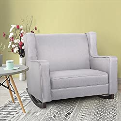 Esright Grey Upholstered Rocking Chair