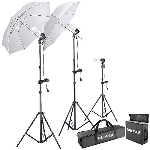Neewer 600W 5500K Photo Studio Day Light Umbrella Continuous Lighting Kit