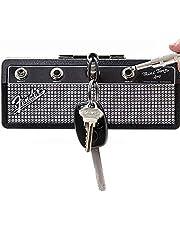 Fender Jack Rack Sleutelhouder-Wall Montage Guitar amp Sleutelhaken, omvat 1 wandmontageset en 4 gitaarstekker Sleutelhangers, Organiseer sleutelopslagrekken voor kamers, winkels en garages
