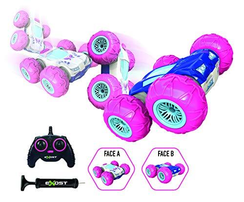 Exost – ferngesteuertes Auto – 360 Tornado Rosa – Stoßfeste Reifen – 2 Seiten und 360° – Spielzeug Maßstab 1:10