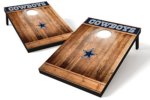 Wild Sports NFL Cornhole Outdoor Game Set, MDF Wood, Brown, 2' x 3' Foot - Recreational Series