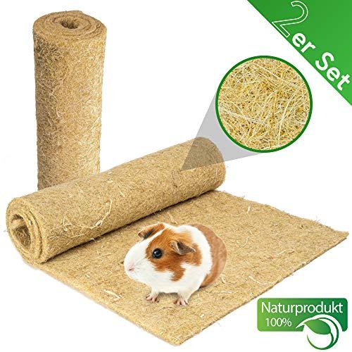 Lot de 2 tapis pour rongeurs 100 % chanvre 120 x 50 cm Épaisseur 5 mm