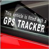 4x Pegatinas para ventana de seguridad con un Rastreador de GPS para coche, furgoneta, Camión, Taxi, Mini Cab, Bus, Coach señales de alarma