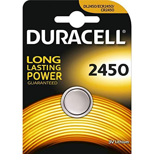 Oferta de Duracell CR 2450 Litio 3V batería no-Recargable - Pilas (Litio, Botón/Moneda, 3 V, 1 Pieza(s), CR2450, Plata)
