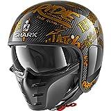 Shark he2708dqq casco Moto, Déco/oro, talla M
