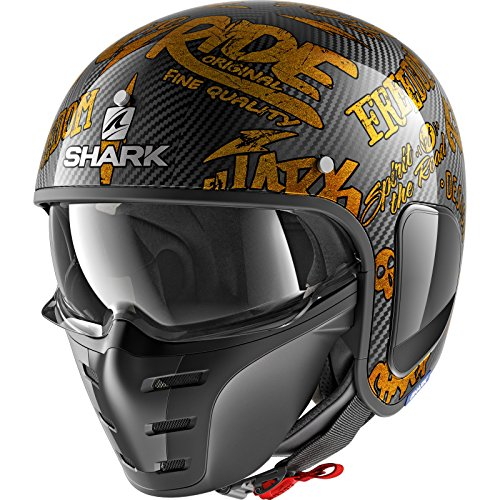 Shark Motorradhelm S-DRAK CARBON FREESTYLE CUP DQQ, Schwarz/Gold, XL