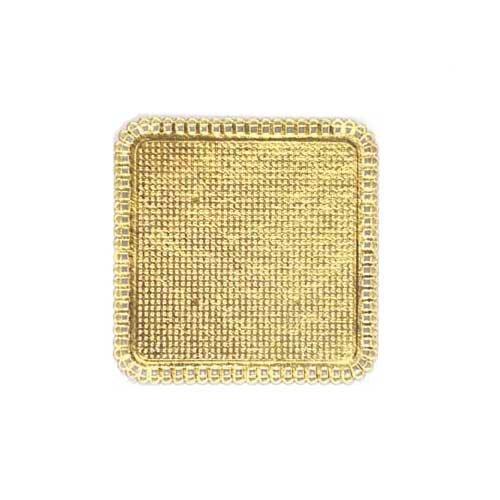 """Novacart Mini-Square Apollo Gold Cake Board Doily 4-5/16"""" x 4-5/16"""" (300)"""