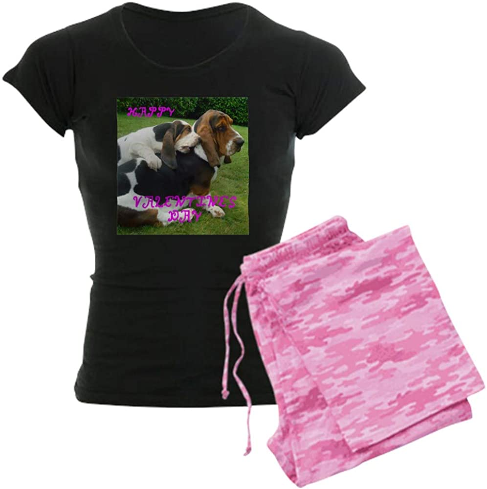 CafePress Basset Hound Valentines overseas Fixed price for sale Women's Pajamas PJs