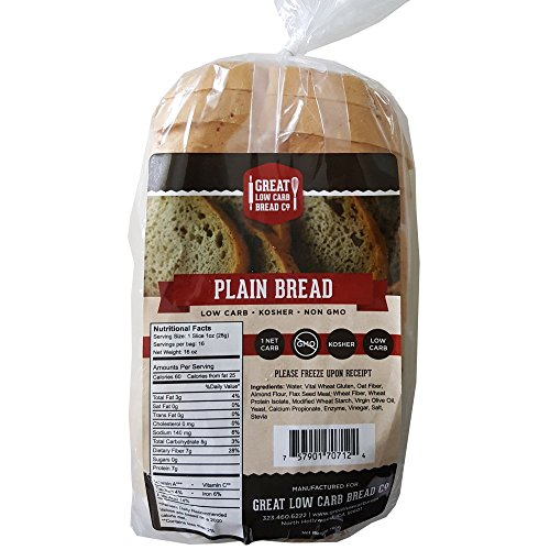 Original Low Carb Bread by Great Low Carb Company, 1 Sandwich Loaf (Plain Bread)