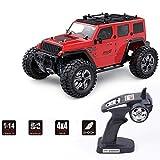 Dpliu 1/14 Control Remoto Car 4WD Off Off RC Car Car 35 KM / HR Carreras de Alta Velocidad 2.4GHz Camiones de Control de Radio Coches de Juguete, para niños y Adultos ( Color : Red )