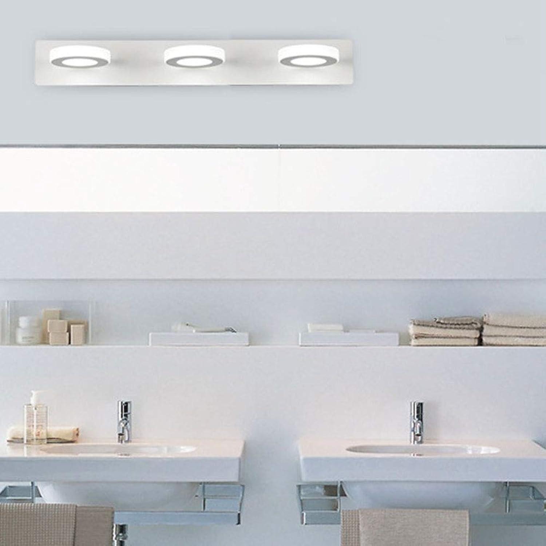 Schminktischlampe, Wohnzimmer Dekoration LED Spiegel Scheinwerfer Toilette Um den Schminkspiegel Feuchtigkeitsfest Wandlampe Positives weies Licht,Weiß,9w 48cm